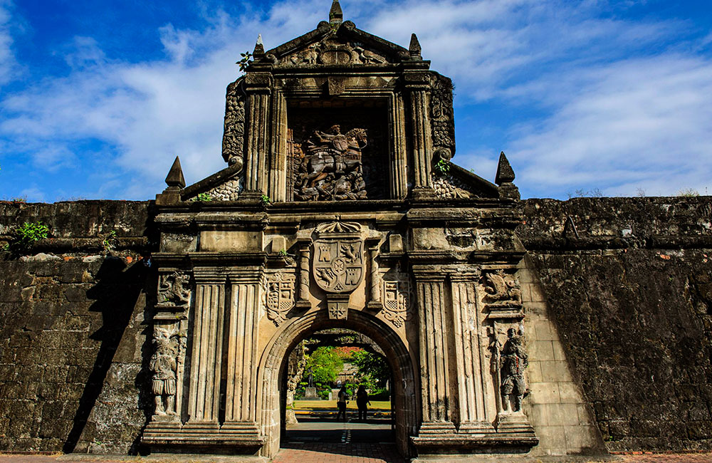 Beautiful places to travel- Intramuros wall city entrance